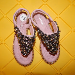Other - Brand New Studded Pink Sandals for Girls Size 13
